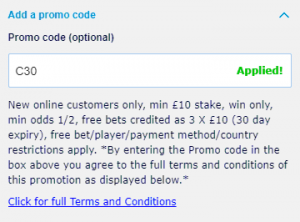 william hill new customer offer