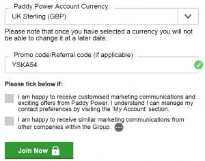 paddy power new customer offer