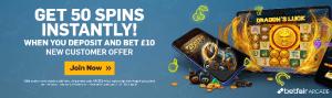 betfair 50 free spins
