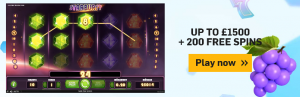 betfair arcade 200 free spins